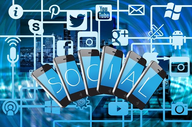 social media marketing mobiles icons